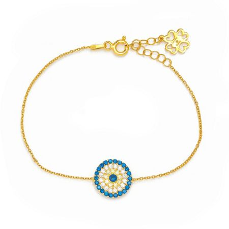 Lucky Eyes Gold large evil eye bracelet