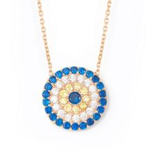 Lucky Eyes Rose large evil eye necklace