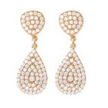 Rose Gold Vermeil Double Pave Earrings