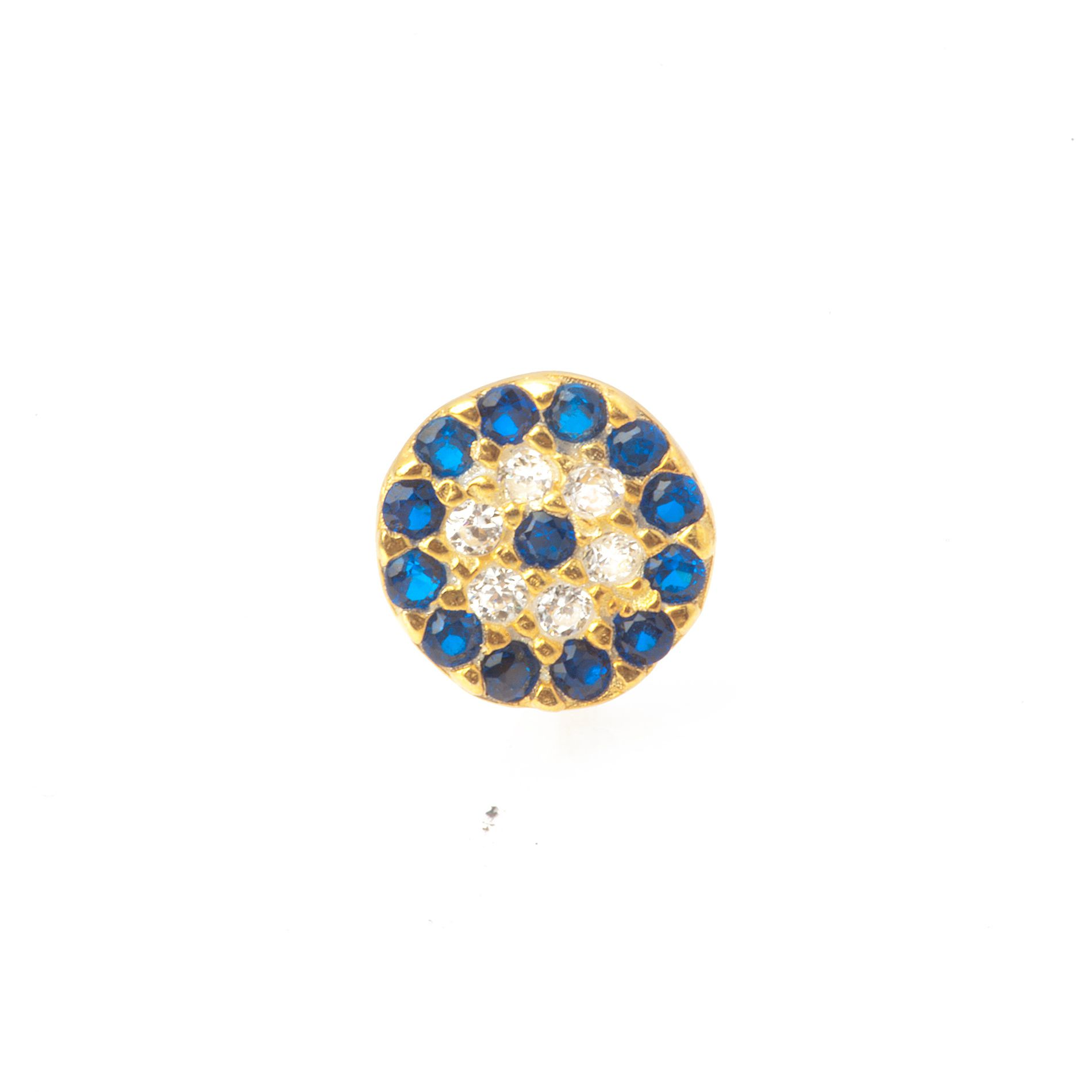 Classic evil eye stud earrings