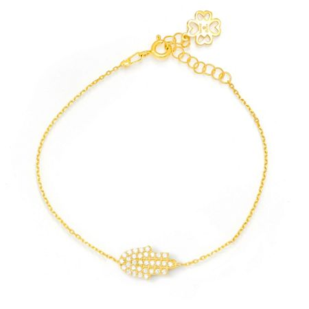 Lucky Eyes Gold jewelled hand bracelet