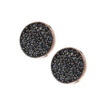 Rose Gold Vermeil Pave Disc Earrings