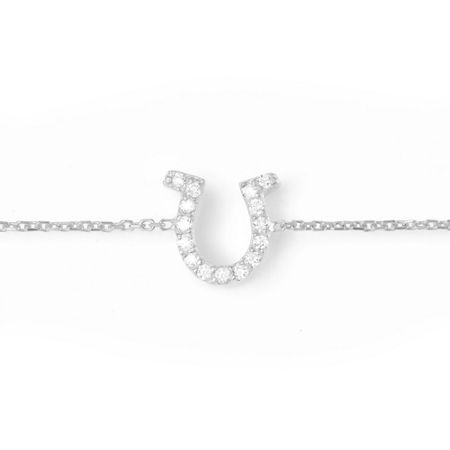 Lucky Eyes Silver horseshoe bracelet