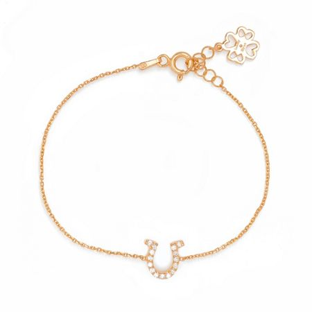 Lucky Eyes Rose horseshoe bracelet