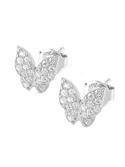 Lucky eyes butterfly stud earrings