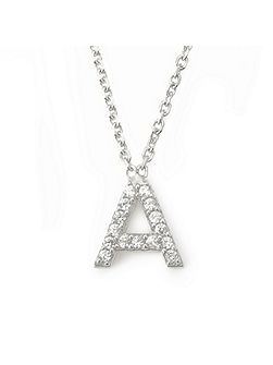 Mini letter a necklace