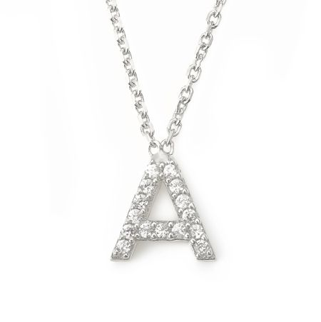 Lucky Eyes Mini letter a necklace