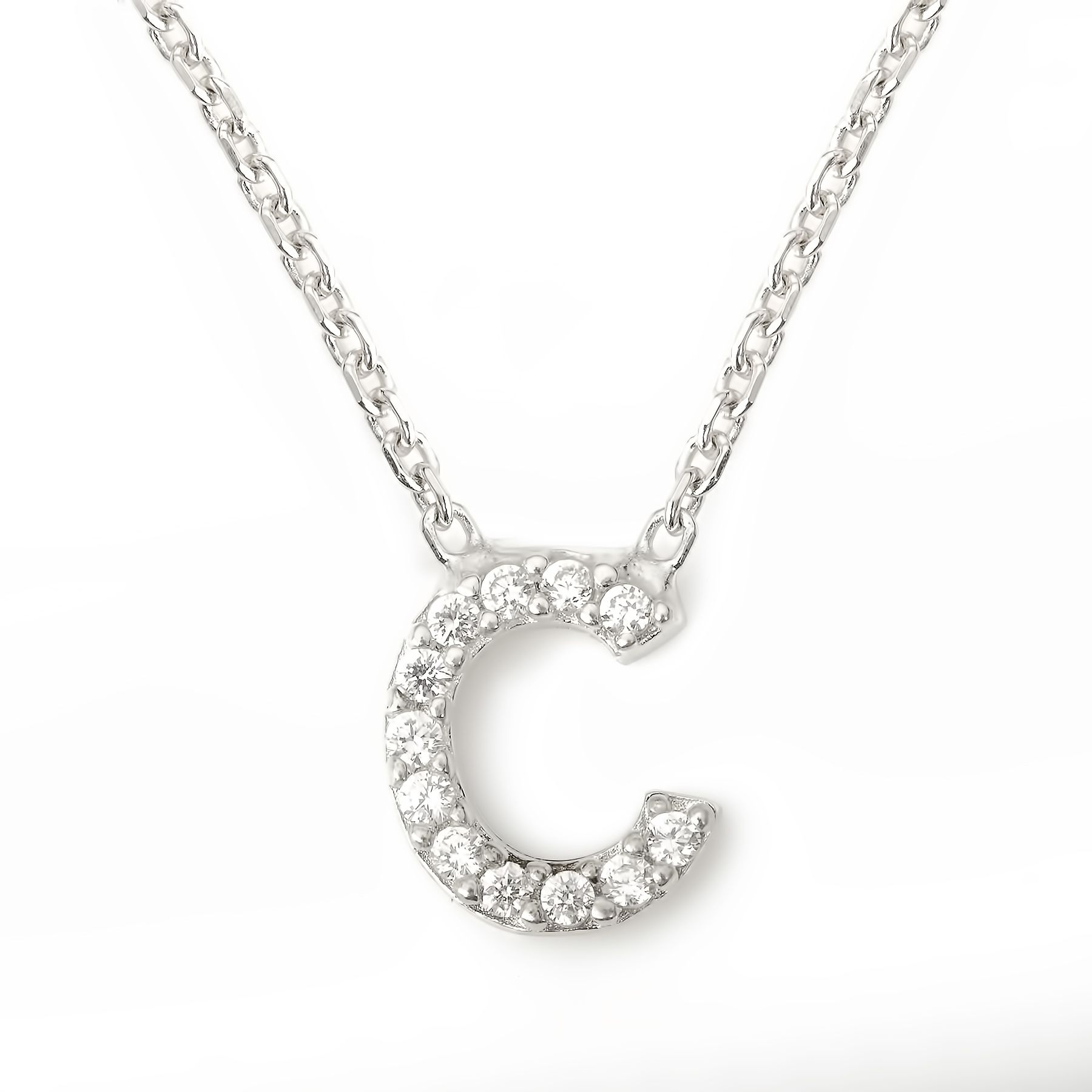Lucky Eyes Lucky Eyes Mini letter c necklace, N/A