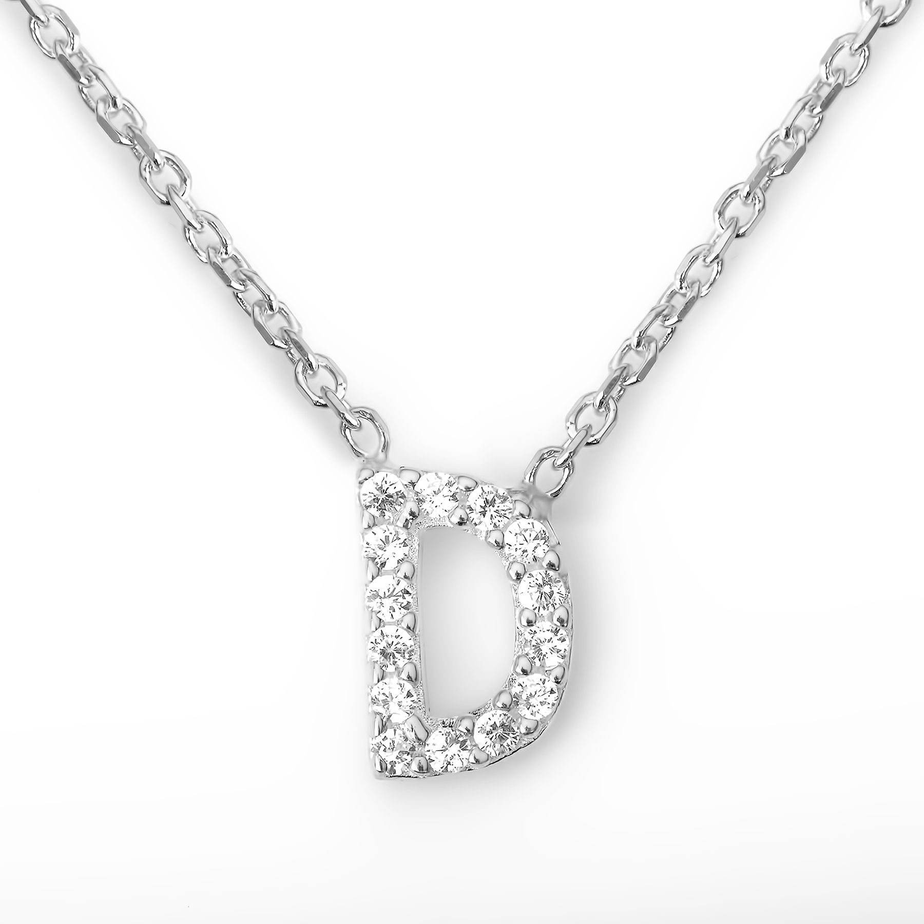 Lucky Eyes Lucky Eyes Mini letter d necklace, N/A
