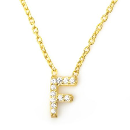 Lucky Eyes Mini letter f necklace