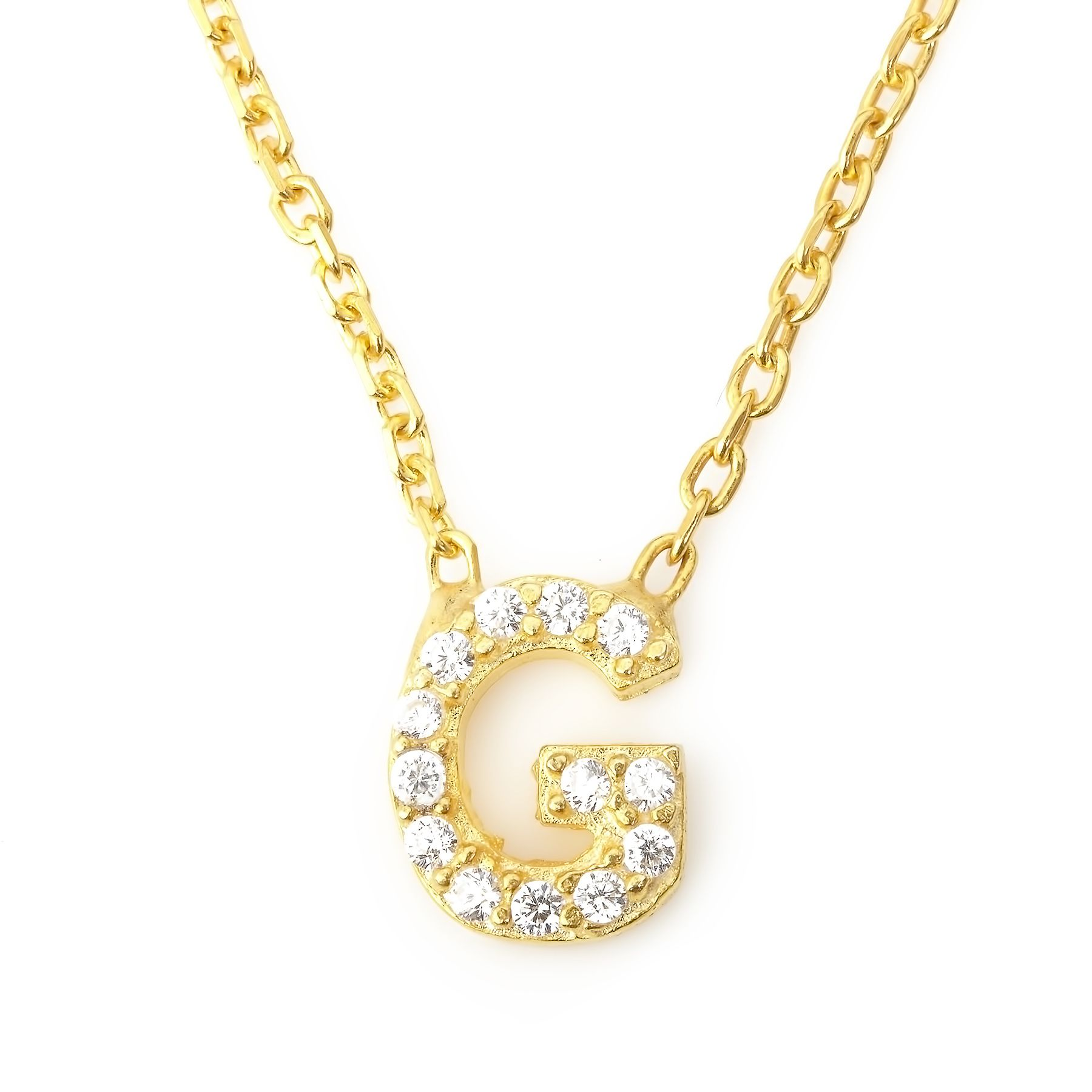Lucky Eyes Lucky Eyes Mini letter g necklace, N/A