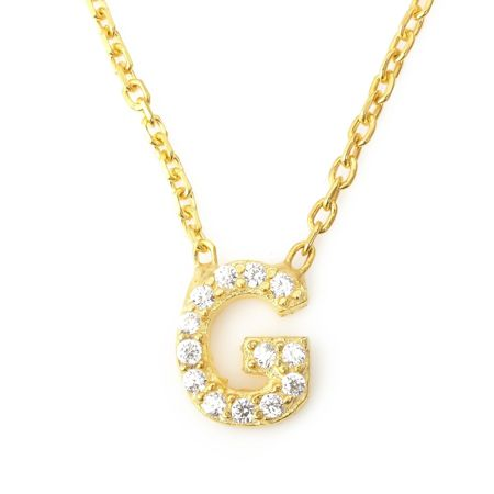Lucky Eyes Mini letter g necklace
