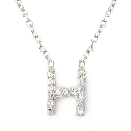 Lucky Eyes Mini letter h necklace