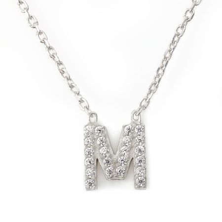 Lucky Eyes Mini letter m necklace