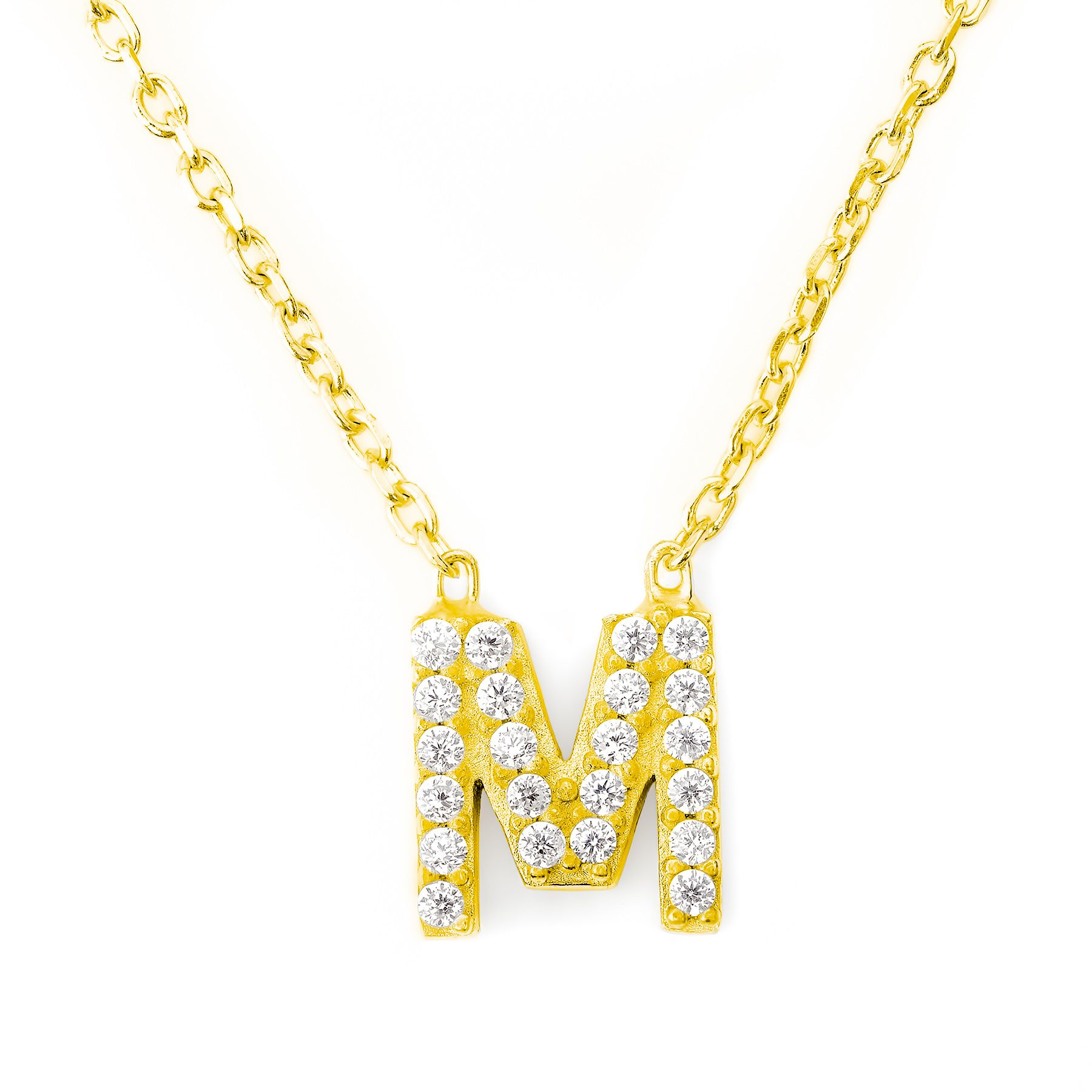 Lucky Eyes Lucky Eyes Mini letter m necklace, N/A