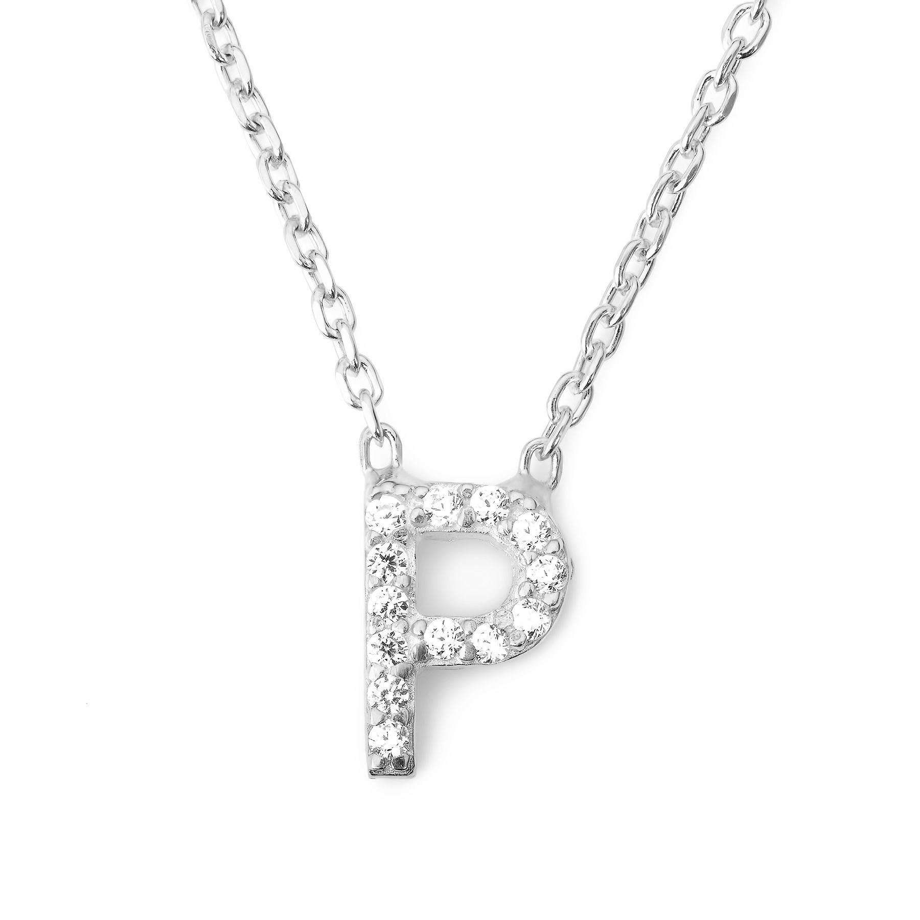 Lucky Eyes Lucky Eyes Mini letter p necklace, N/A