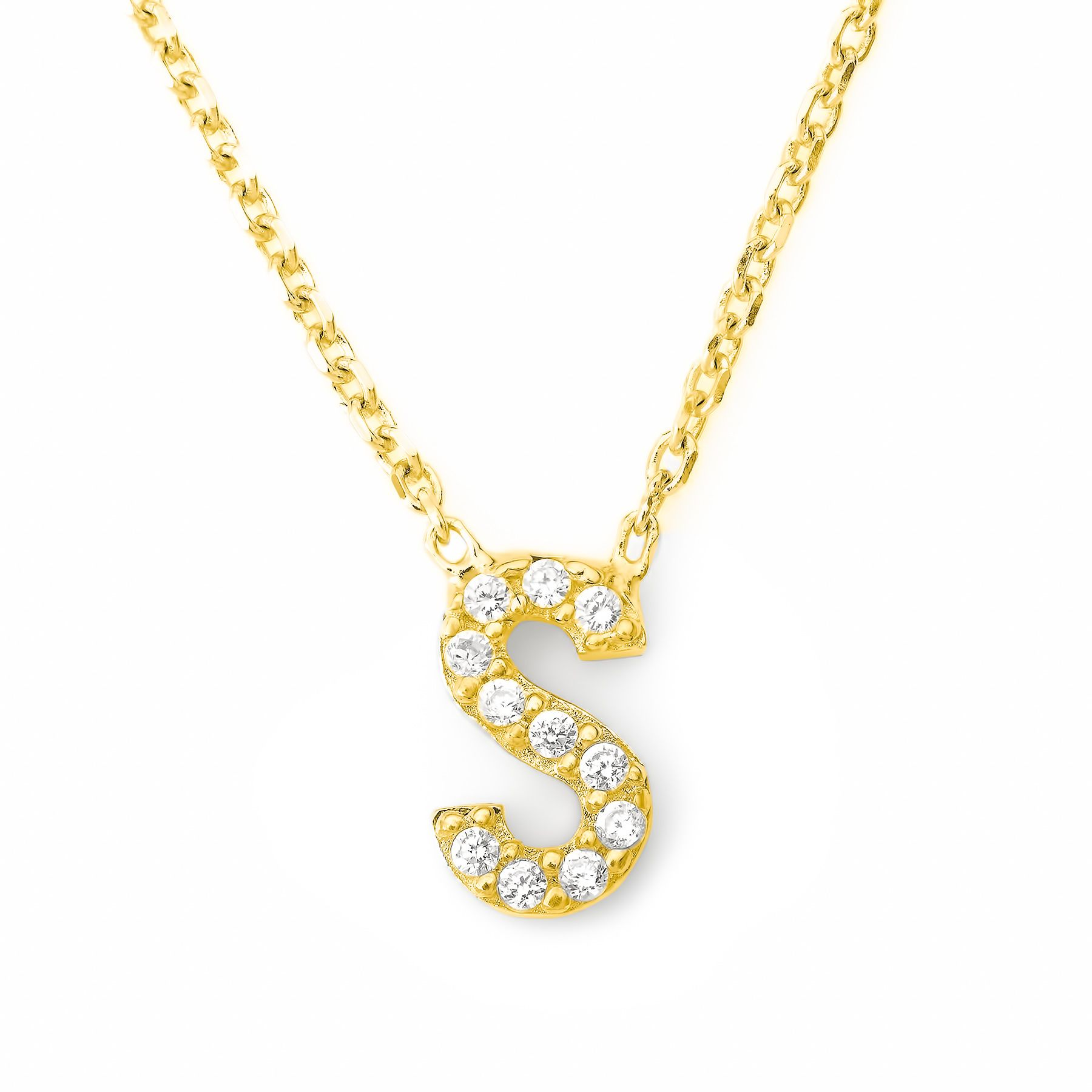 Lucky Eyes Lucky Eyes Mini letter s necklace, N/A