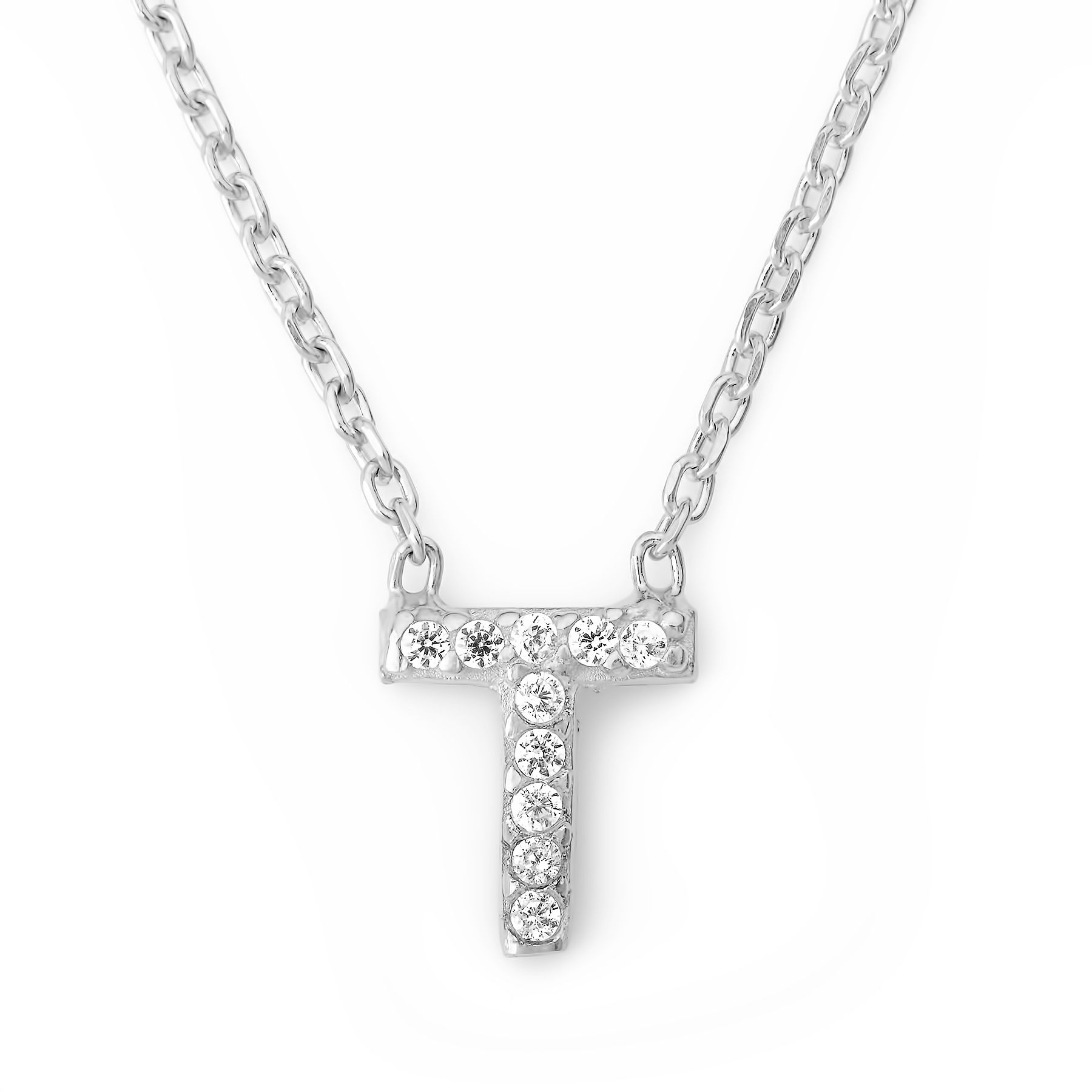 Lucky Eyes Lucky Eyes Mini letter t necklace, N/A