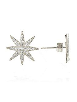 Crystal sun stud earrings