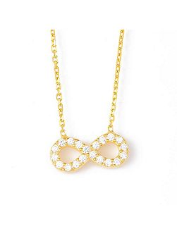Infinity Necklace in Gold Vermeil