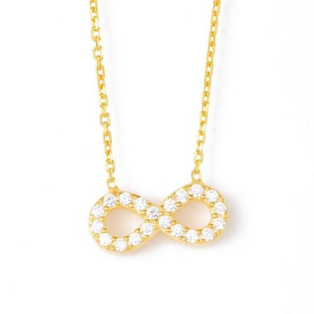 Lucky Eyes Infinity Necklace in Gold Vermeil
