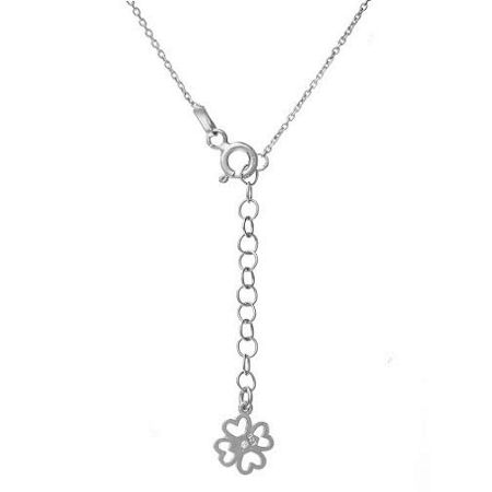 Lucky Eyes Infinity Necklace in White Gold Vermeil