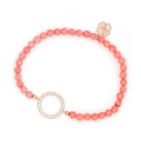 Lucky Eyes Coral beaded bracelet