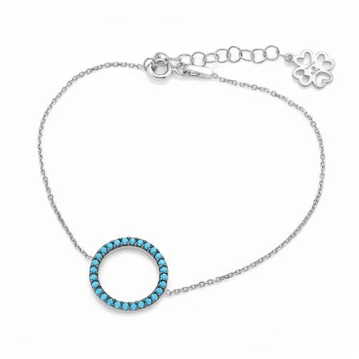 lucky eyes turquoise circle of life bracelet