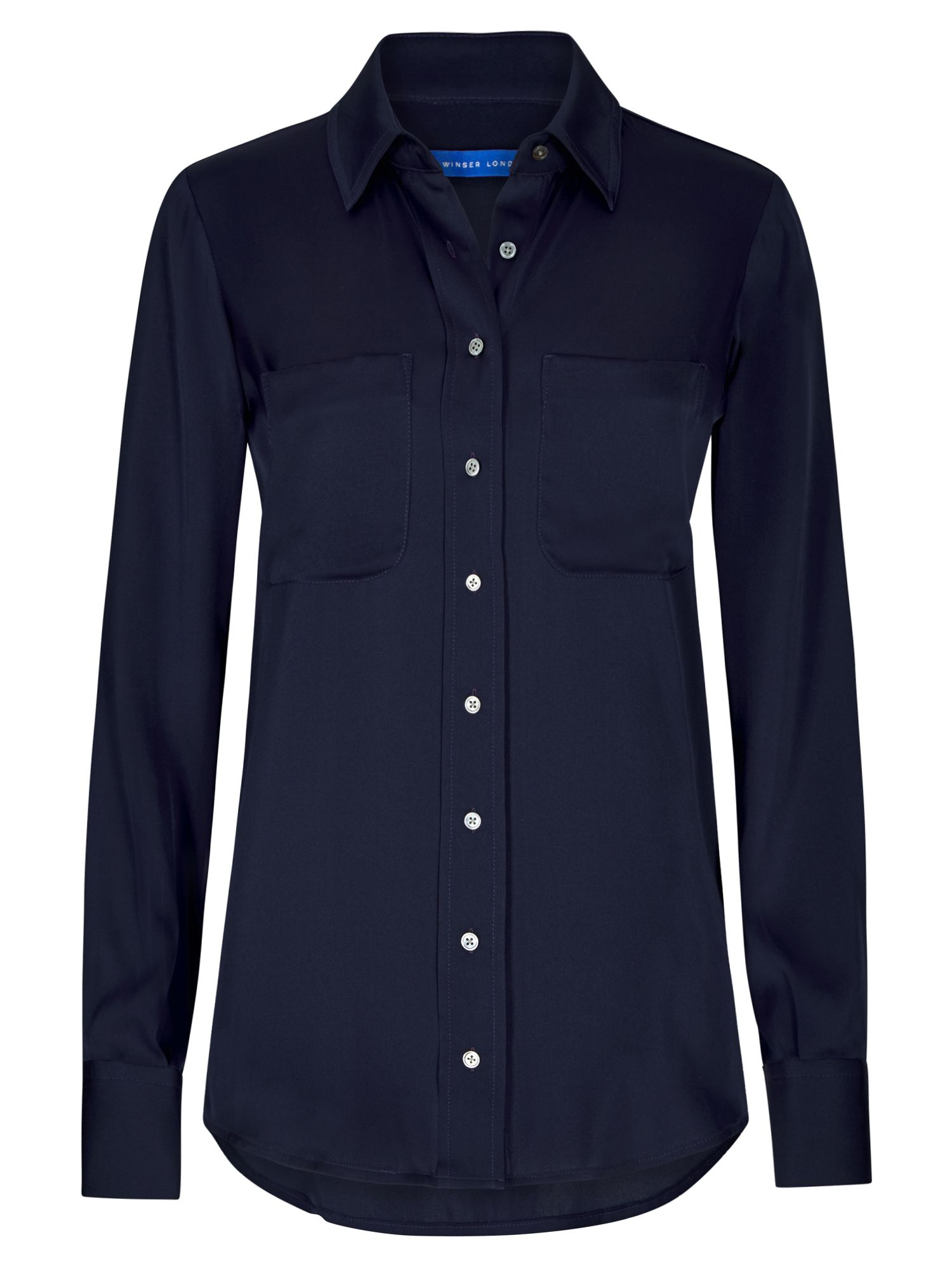 Winser London Silk Shirt, Blue