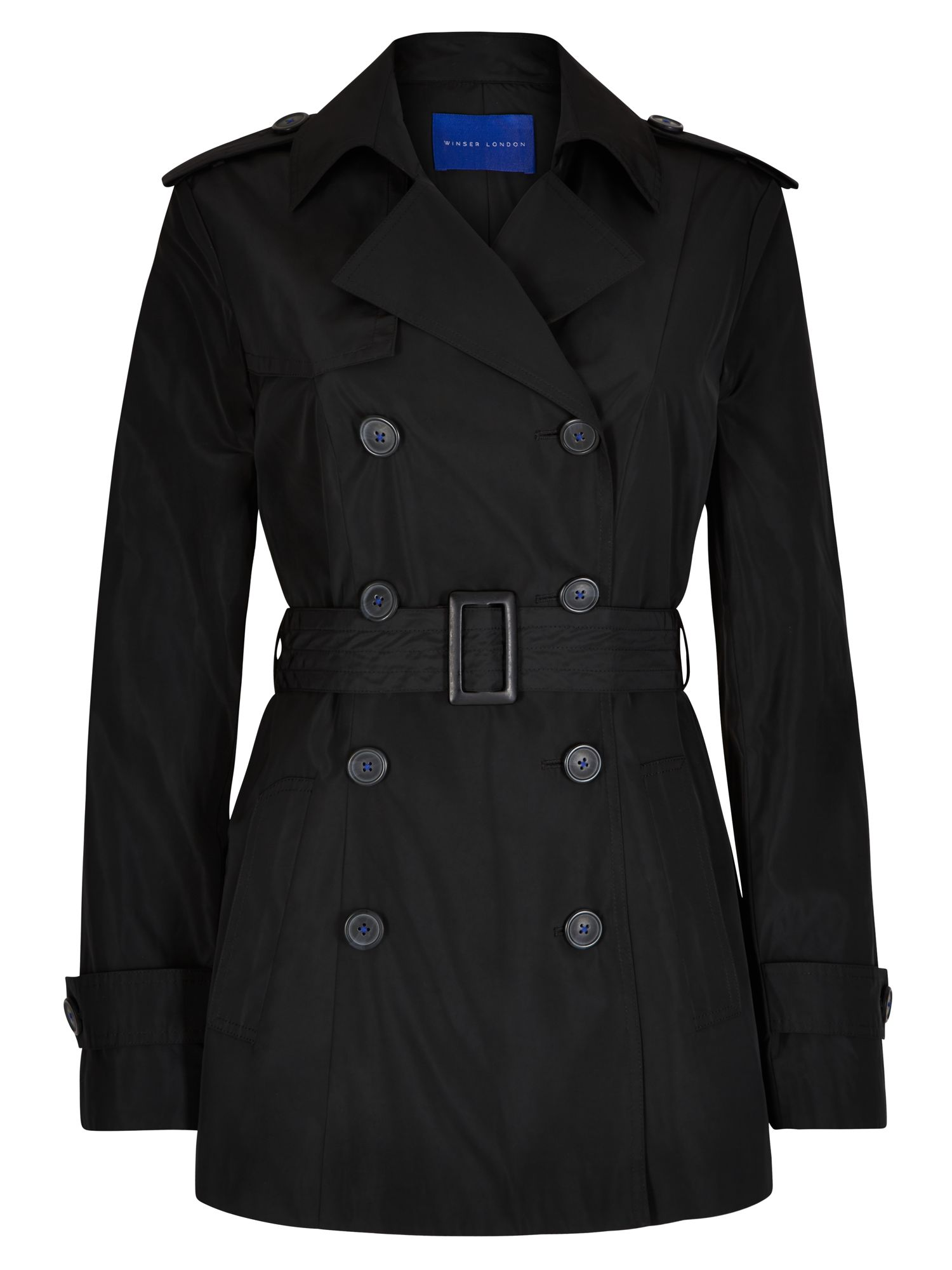 Winser London Winser Short Trench, Black