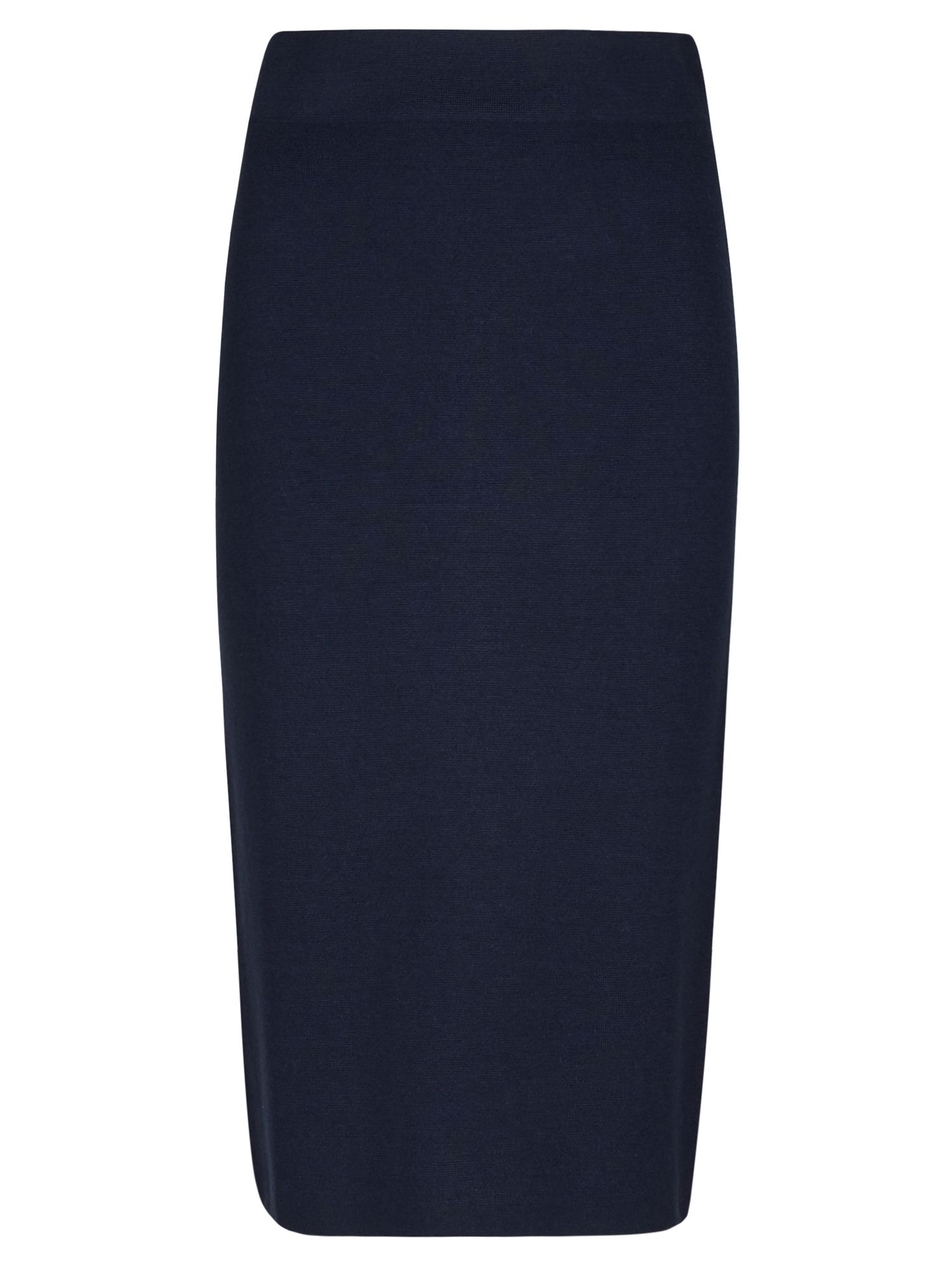 Winser London Milano Wool Skirt, Blue