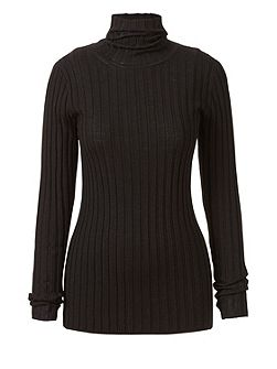 Polo Neck Rib Jumper
