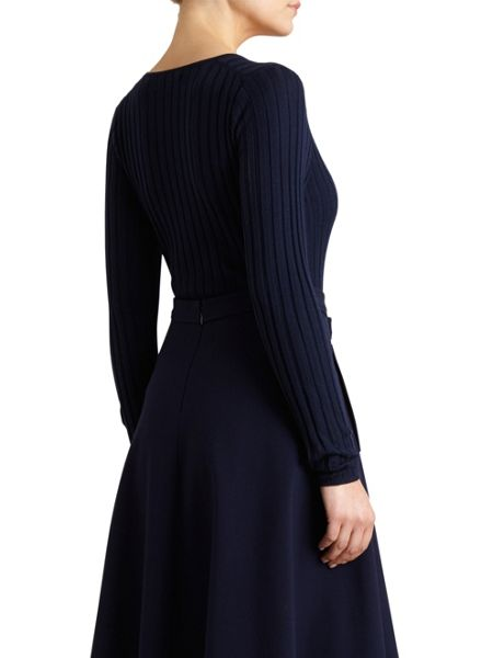 Winser London Merino Wool Rib V Neck Jumper