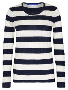 Winser London Skinny Rib Stripe Jumper