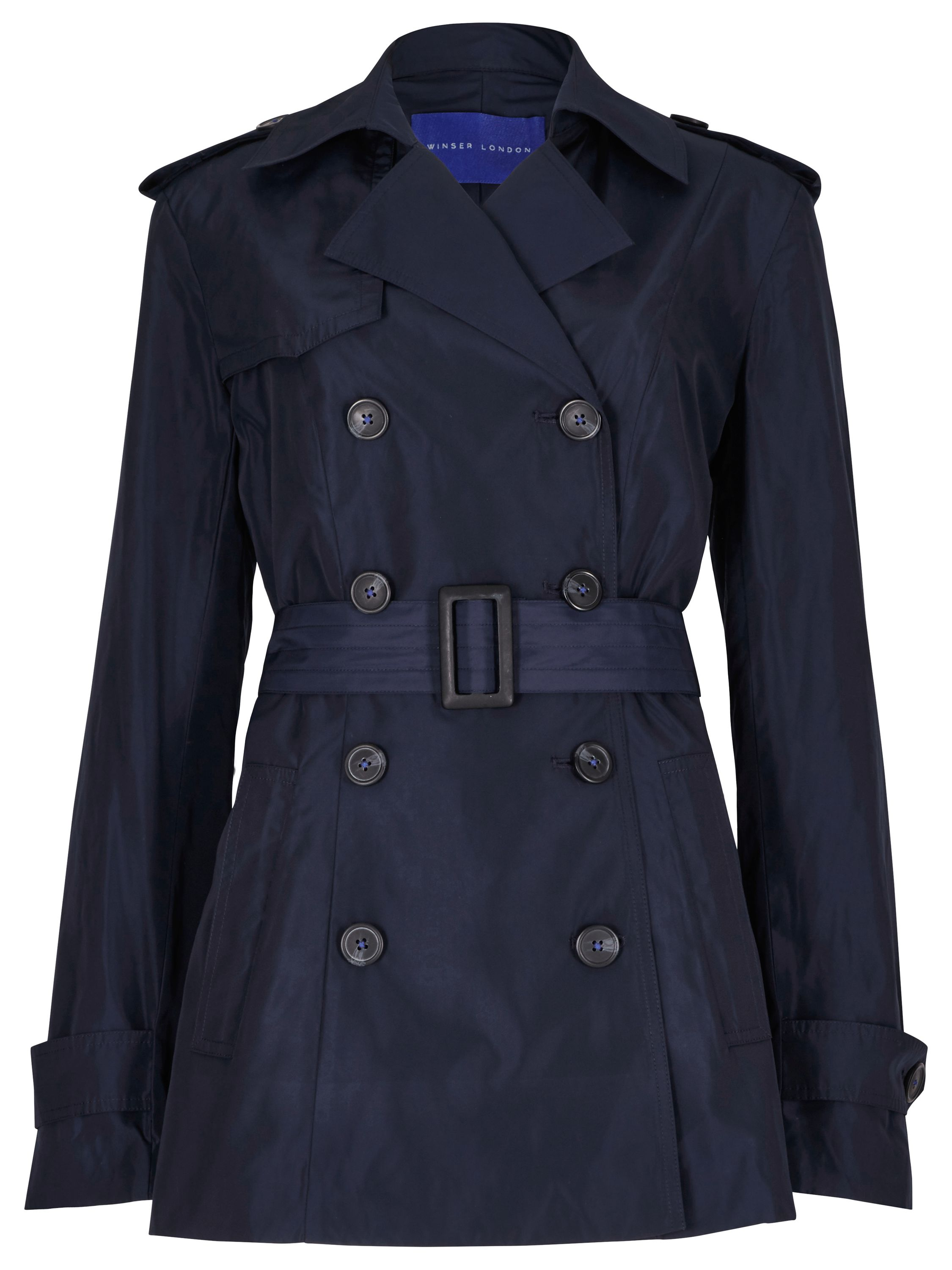 Winser London Winser Short Trench, Blue