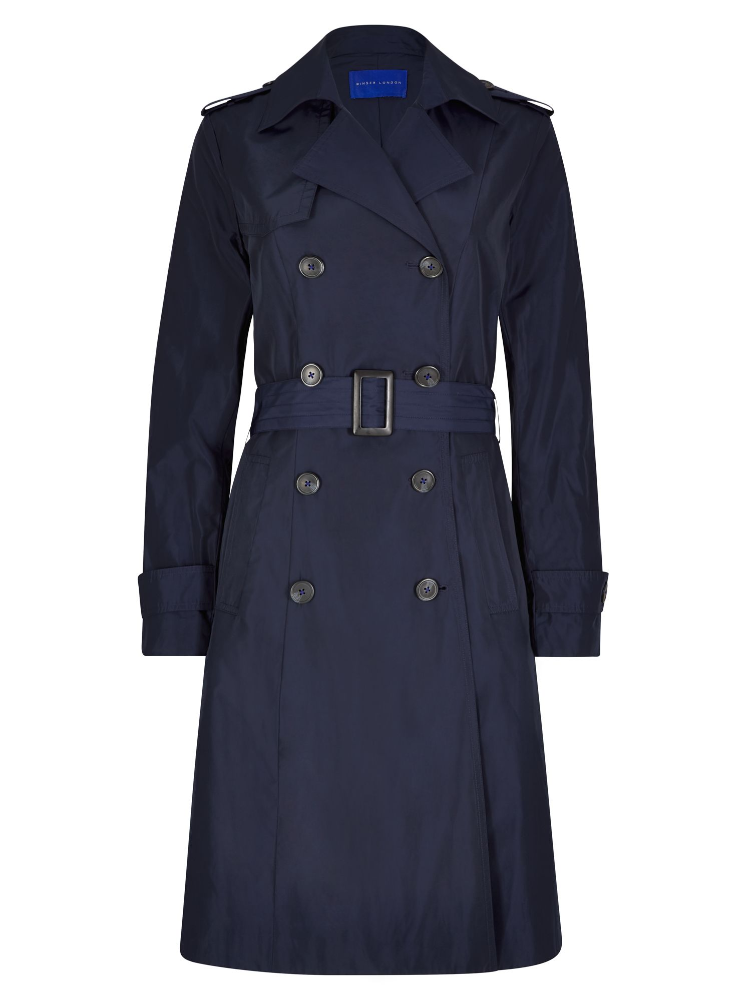 Winser London Winser Trench Coat, Blue