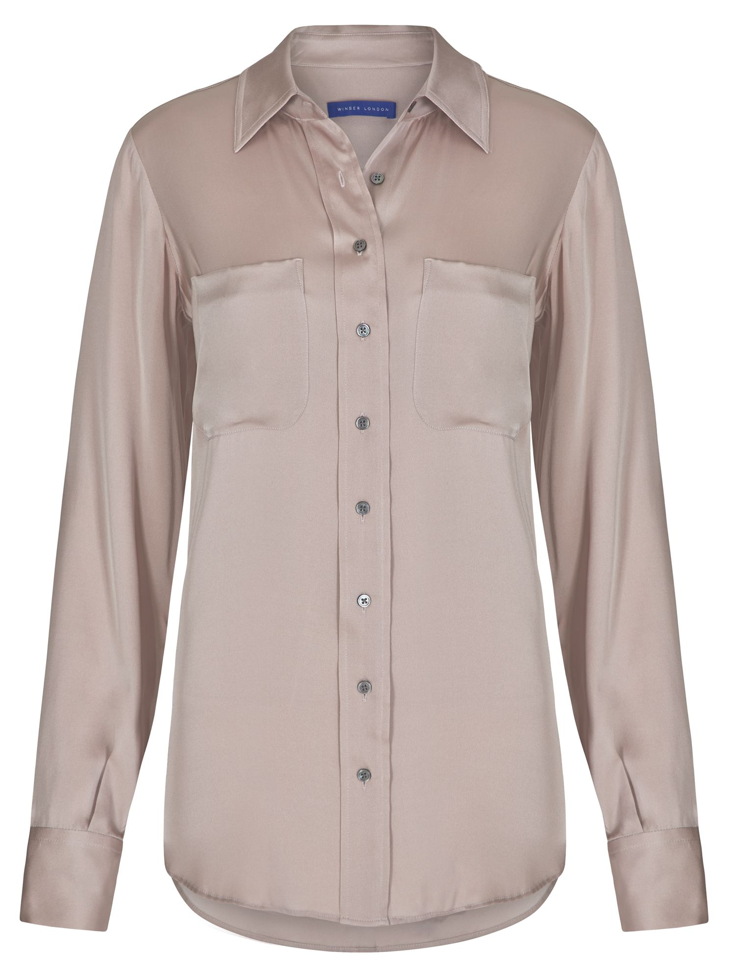 Winser London Silk Shirt, White