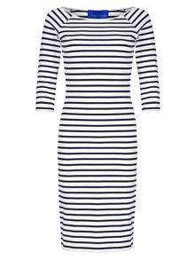 Winser London Cotton Jersey Striped Dress