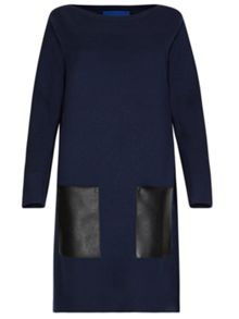 Winser London Milano Wool Dress With Pockets