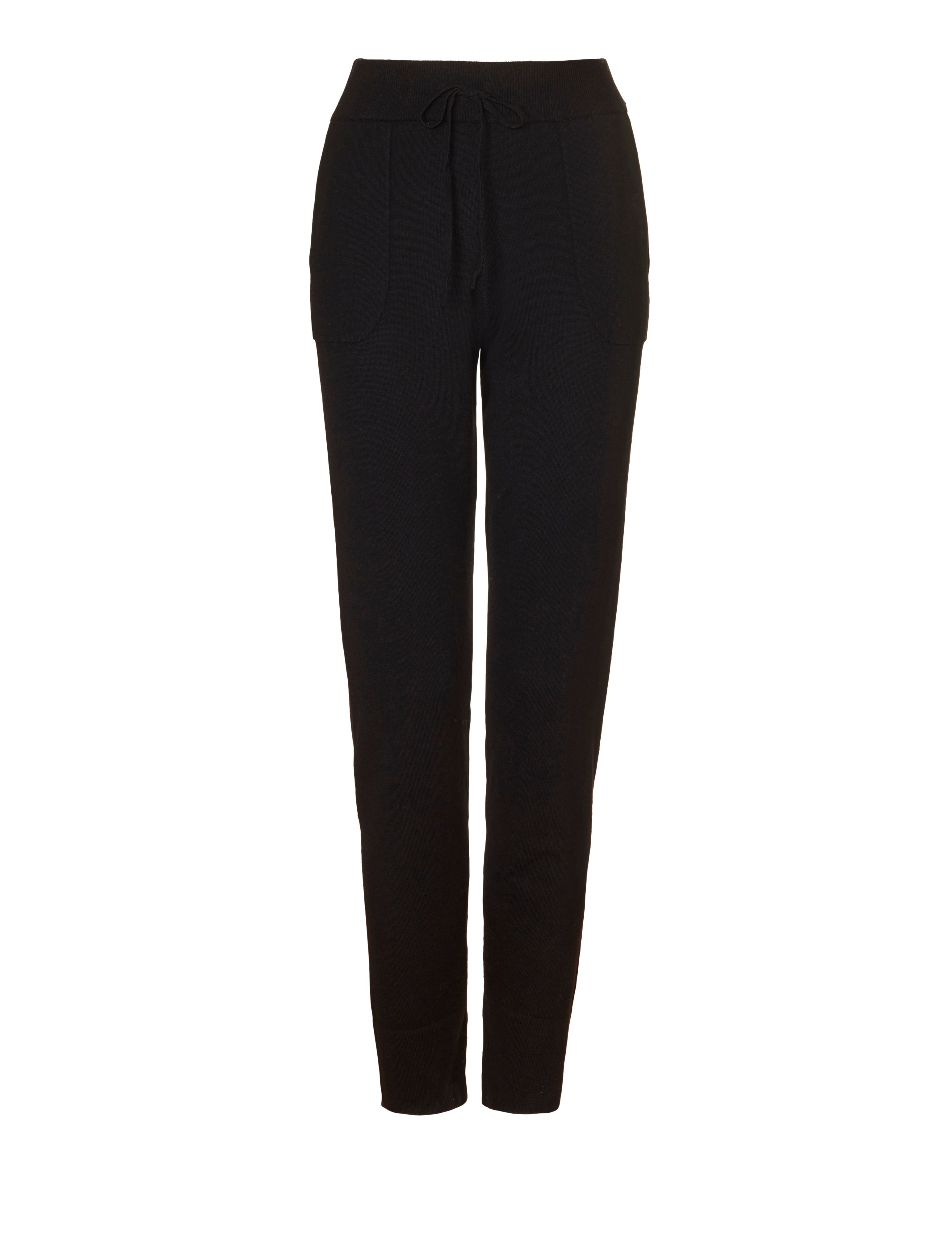 Winser London Casual Luxe Lounge Pants, Black