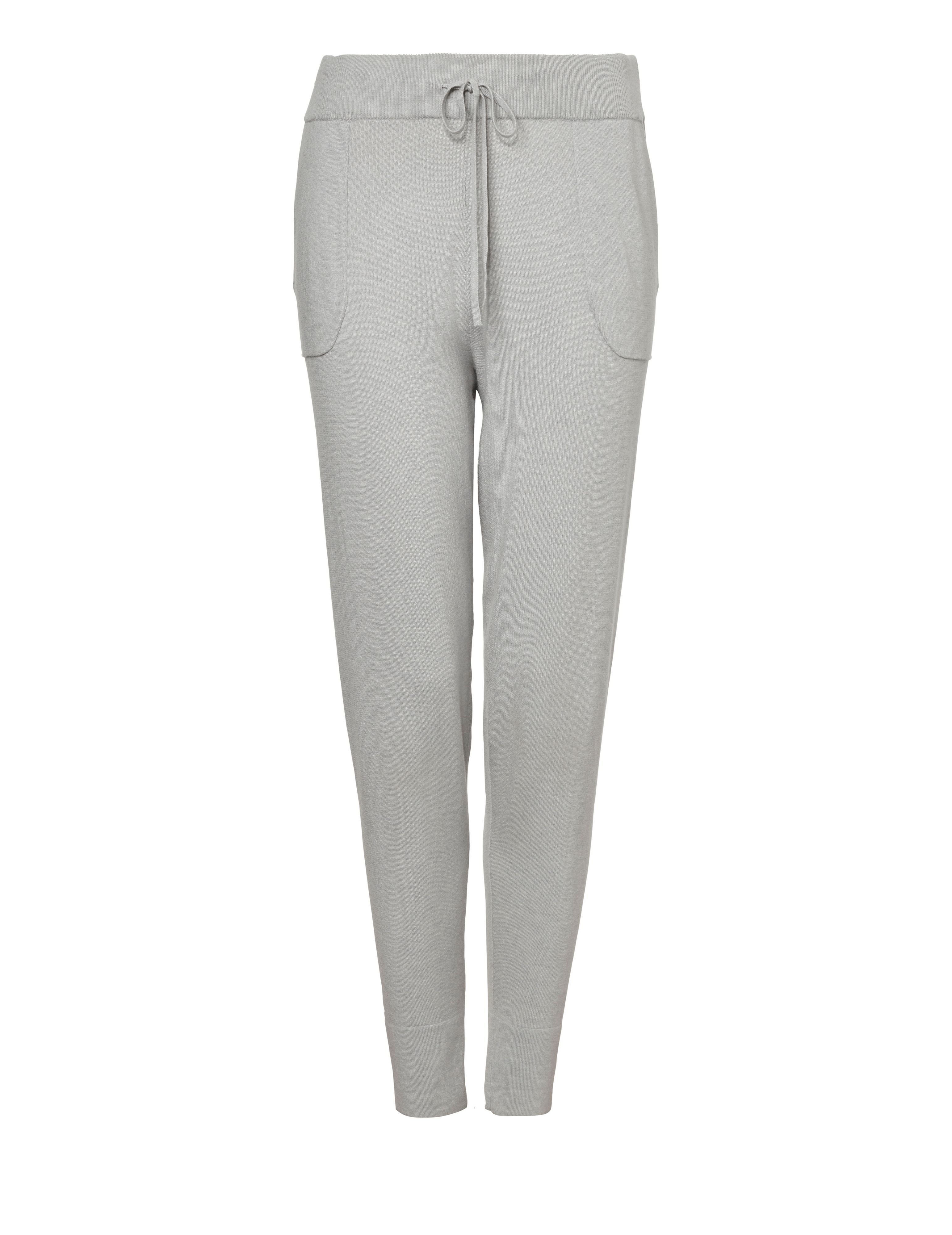 Winser London Casual Luxe Lounge Pants, Grey Marl