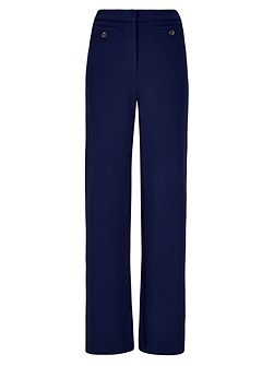 Crepe Jersey Wide Leg Trousers