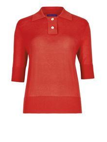 Winser London Silk Cotton Polo Top