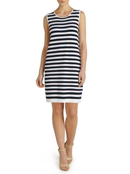 Winser London Cotton Textured Stripe Dress