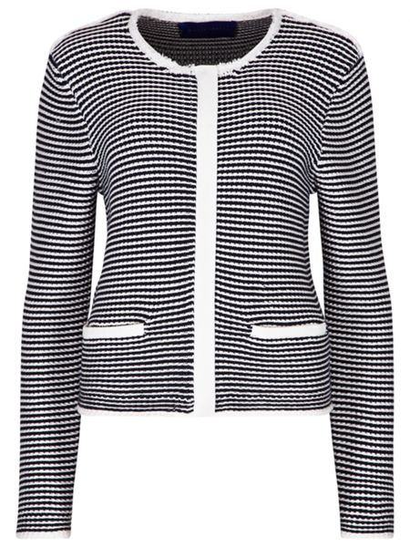 Winser London Cotton Zip Striped Jacket