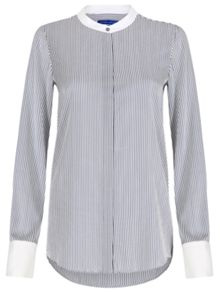 Winser London Lightweight Silk Striped Shirt