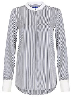 Lightweight Silk Striped Shirt