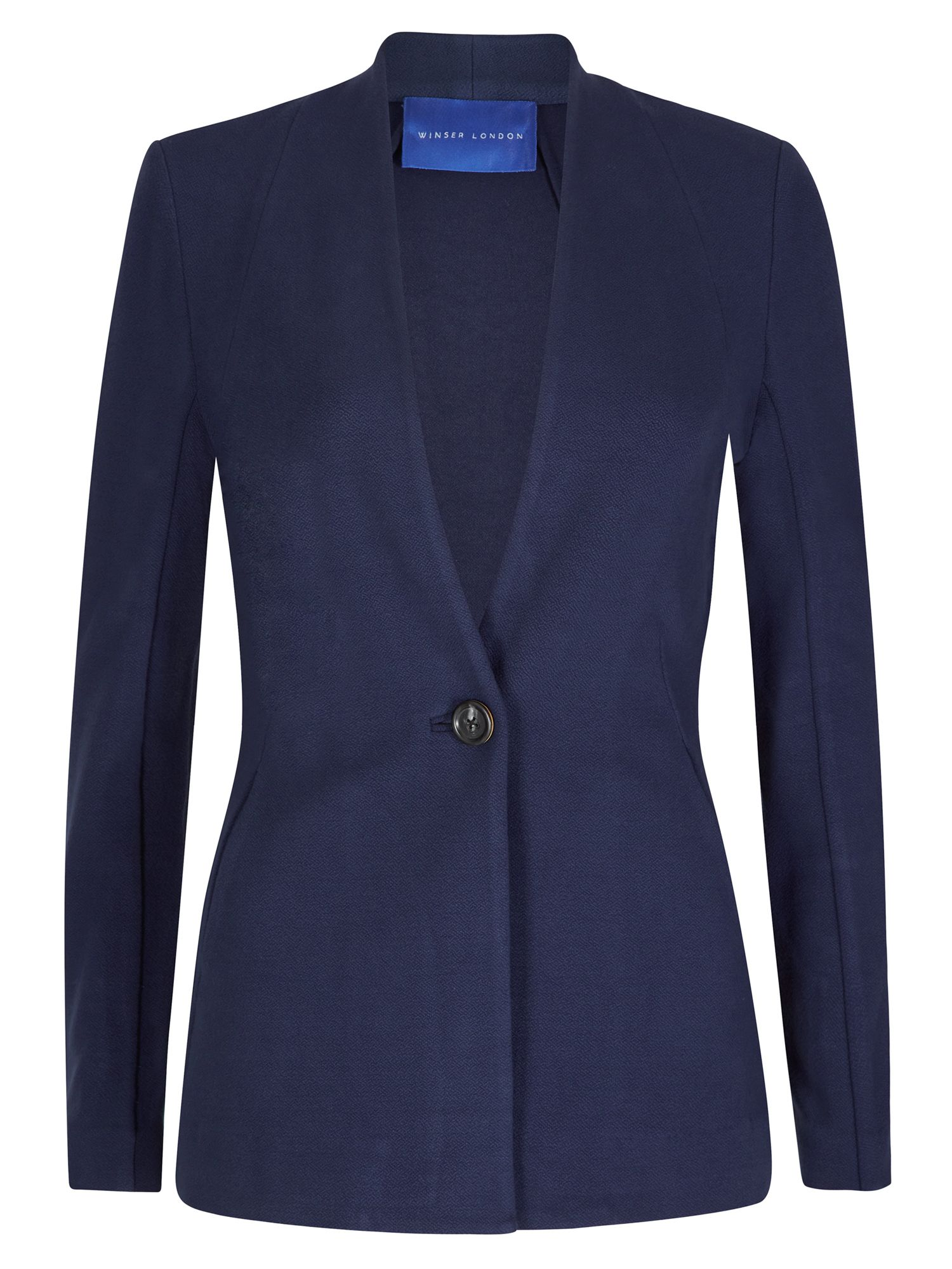 Winser London Crepe Jersey Jacket, Blue