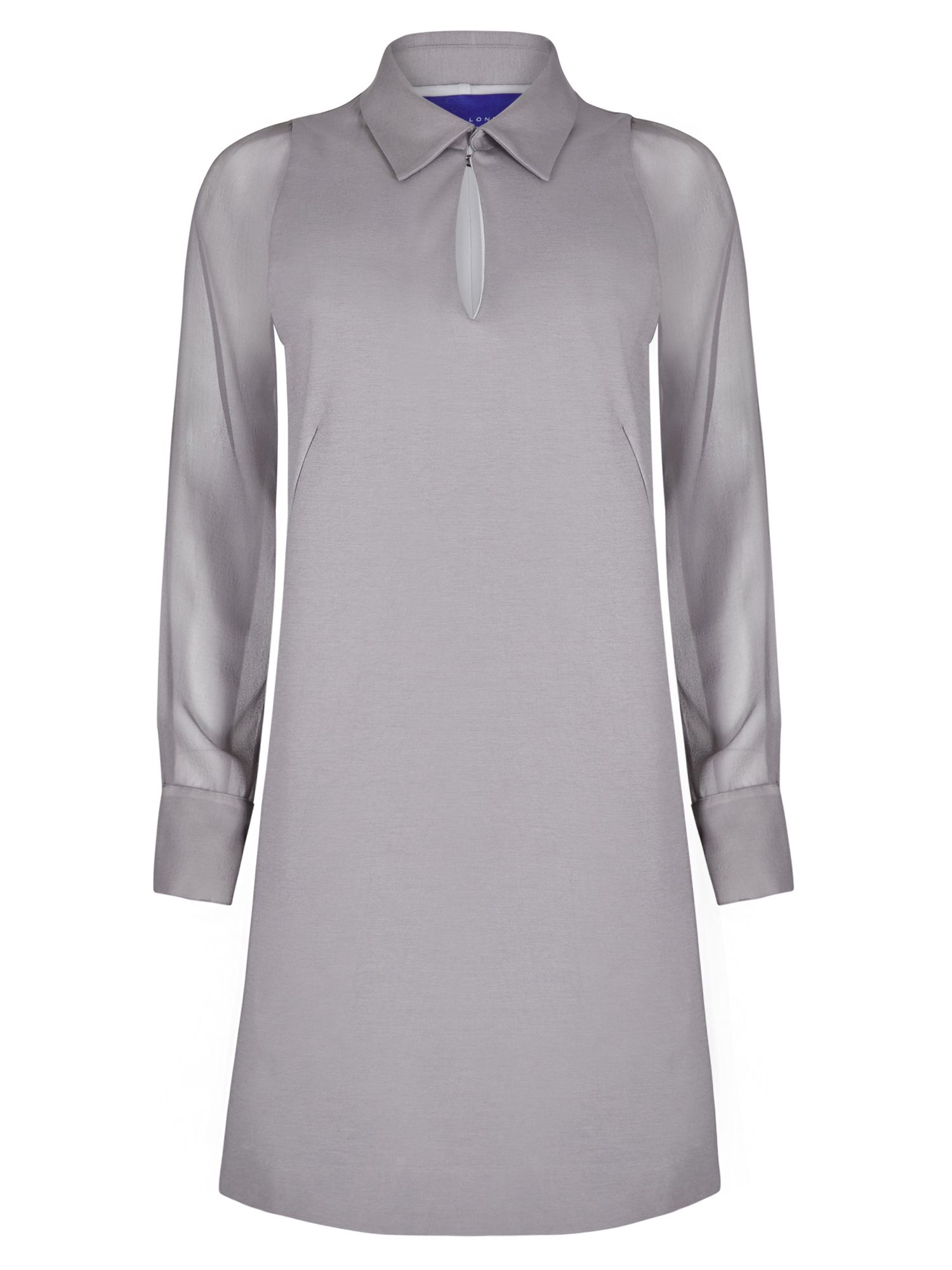 Winser London Miracle Georgette Sleeve Dress, Grey