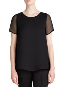 Winser London Silk Chiffon A-Line Top
